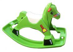 Marian Plast koń na biegunach zielony