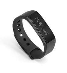 Technaxx Fitness náramek Trackfit, voděodolný, Bluetooth 4.0, Android/iOS, černý (TX-63) - zánovní