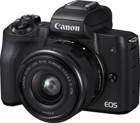 Canon Aparat fotograficzny EOS M50 + 15-45 Black (2680C012)