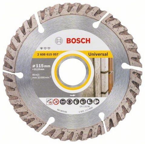 Bosch Diamantový deliaci kotúč Standard for Universal 115 × 22,23 mm (2.608.615.057)