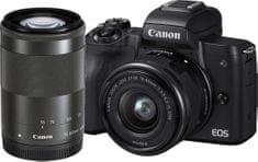 Canon Aparat fotograficzny EOS M50 + 15-45 + 55-200 (2680C022)