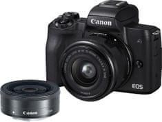 Canon Aparat fotograficzny EOS M50 + 15-45 + 22 (2680C032)