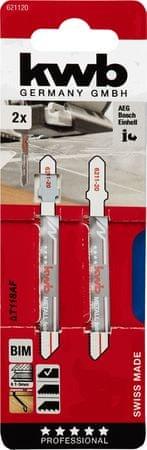 KWB list za vbodno žago, 77/50 mm, BIM, 2 kosa (621120)