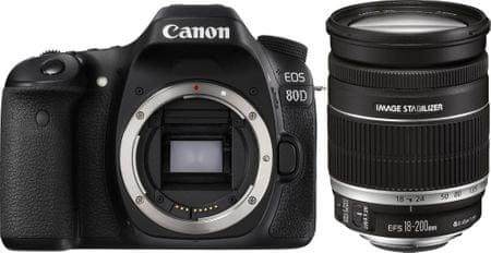 Canon lustrzanka cyfrowa EOS 80D + obiektyw 18-200 IS (1263C155)