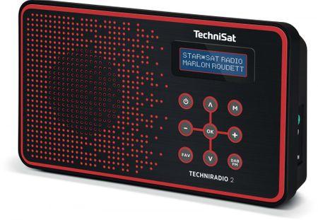 Technisat TECHNIRADIO 2, černá/červená