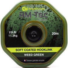RIDGEMONKEY Návazcová Šňůrka RM Tec Soft Coated Hooklink 20 m Zelená