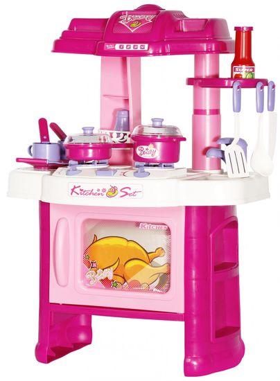 Let's play Interaktivní dětská kuchyňka s nádobím