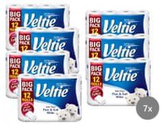 Veltie toaletni papir Delicately, 3-slojni, bel, 7 x 12 rol