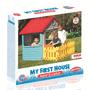 2 - DOLU Detský záhradný domček s plotom, plastový, modrý