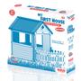 3 - DOLU Detský záhradný domček s plotom, plastový, modrý