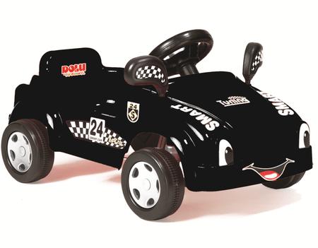 DOLU avto s pedali in hupo, črn