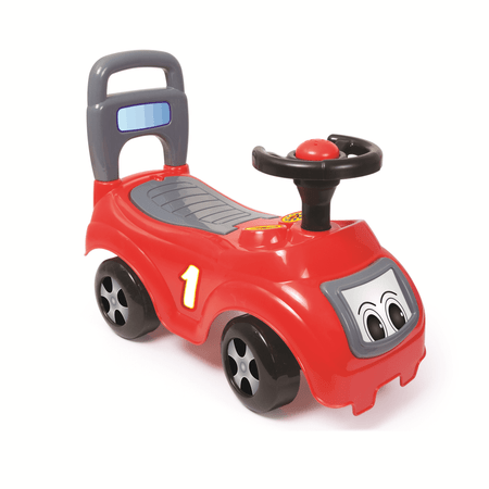 DOLU Futóbicikli- piros autó háttámlával