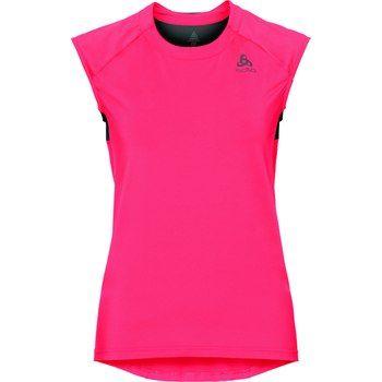 ODLO ženska majica BL TOP Crew neck Singlet Ceramicool, roza/črna, L
