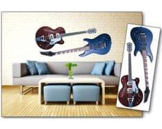 Dimex Dekoračné nálepky na stenu Gitary - 65 x 165 cm