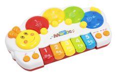 Let's play Detské klávesy v tvare húsenice so zvukmi a svetlami