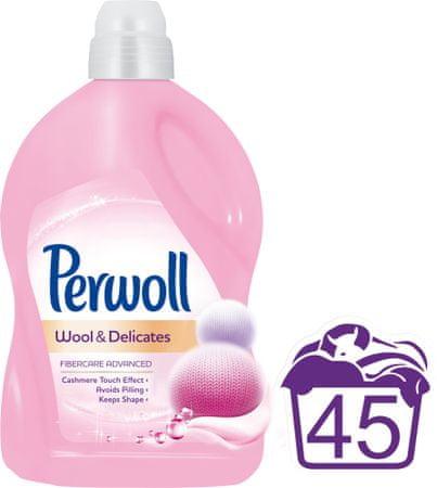 Perwoll pralni gel Wool & Delicates, 2,7 l, 45 pranj