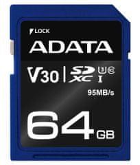 A-Data karta pamięci Premier Pro SDXC 64GB (ASDX64GUI3V30S-R)