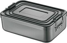 Svačinový box s přepážkou, tmavě šedý