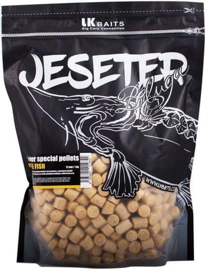 Lk Baits Pelety Jeseter Special Cheese Fish 1 kg, 12 mm