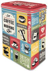 Postershop Plechová dóza s klipom Coffee