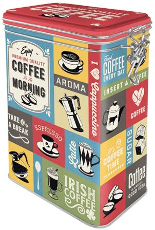Postershop Pléh tárolóedény nyitórésszel Coffee