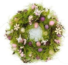 Seizis Veľkonočný veniec s motýlikmi 27 cm, fialový