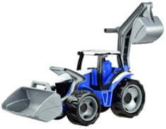 LENA Traktor s lyžicou a bagrom, modro šedý