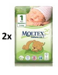 MOLTEX Pieluchy Newborn 1 (2-4 kg) 2x23 szt.