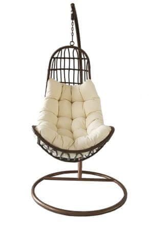 Rojaplast OREGON felfüggeszthető fotel krémszínű/barna