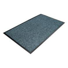 Modrá textilní čistící vnitřní vstupní rohož - 1 cm