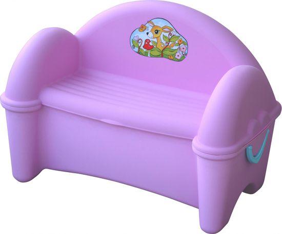 PalPlay Detská lavica s úložným priestorom - fialová