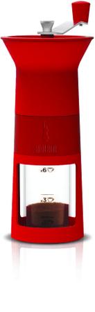 BIALETTI mlinček za kavo Maccinacaffe, rdeč