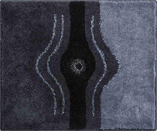 GRUND s kryštálmi SWAROVSKI - exkluzívna česká kúpeľňová predložka, CRYSTAL LIGHT 50 x 60 cm, antracitová