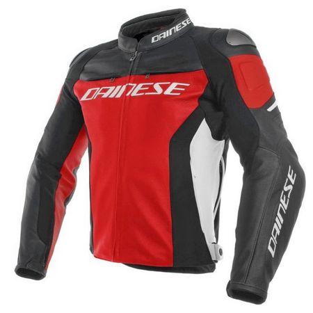 178067f49236 Dainese pánska kožená bunda na motorku RACING 3 červená čierna biela ...