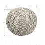 3 -  Pletený taburet, krémová bavlna, GOBI TYP 1
