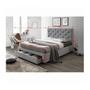 3 -  Moderná posteľ s úložným priestorom, sivá látka, 160x200, SANTOLA