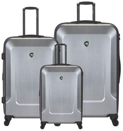 Mia Toro komplet kovčkov M1535 3, 3 kosi, srebrn