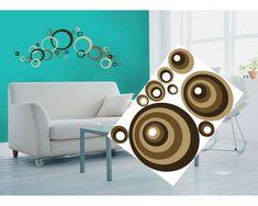 Dimex Dekoračné nálepky na stenu Hnedé kruhy - 50 x 70 cm