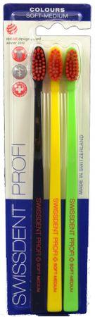 Swissdent Profi Colours Soft-Medium 3ks (black, yellow, green)