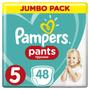 1 - Pampers Pants 5 Junior (12-17 kg) Jumbo Pack - Hlačne plenice 48 kosov