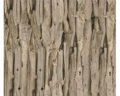 Rasch Vliesové tapety 473216 Drevený obklad hnedý