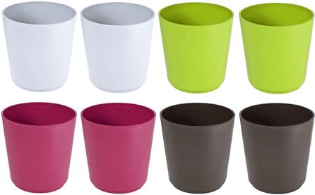 Previosa posuda za cvijeće Geometric, različite boje, 8 kom