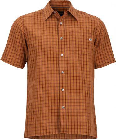 Marmot moška srajca Eldridge SS Bombay Brown, L, rjava