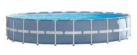 Intex bazen Prism Frame, 732 x 132 cm, s filter črpalko, lestev, podlaga, pokrivalo, DVD (26762NP)