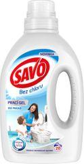 Savo Prací gél na bielu bielizeň 1 l (20 praní)