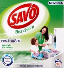 Savo Prací prášok na bielu a farebnú bielizeň 1,4 kg (20 praní)