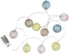 TORO Girlanda 10LED fényes műanyagok gyöngyök