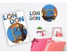 Dimex Dekoračné nálepky London - 85 x 125 cm
