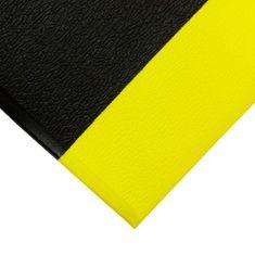 Černo-žlutá protiskluzová protiúnavová průmyslová pěnová rohož 01 - 0,9 cm