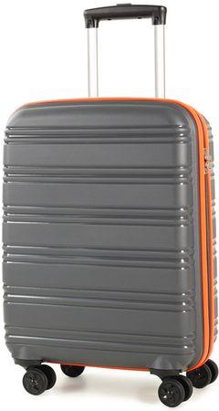 Rock potovalni kovček TR-0164 / S-3, siva/oranžna